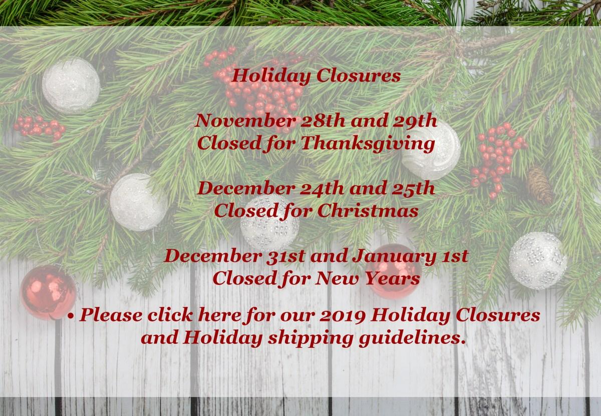 Holiday Closure Banner