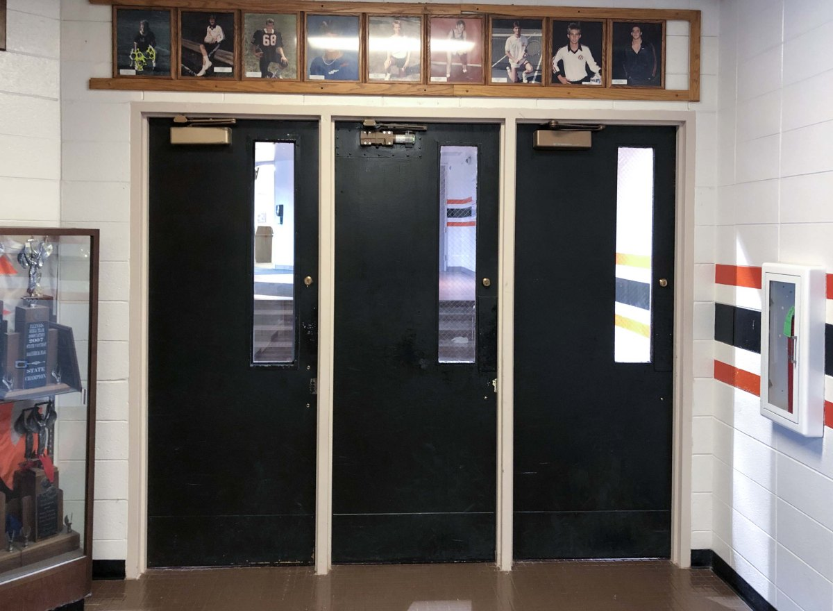 St. Charles East Doors Before Installation
