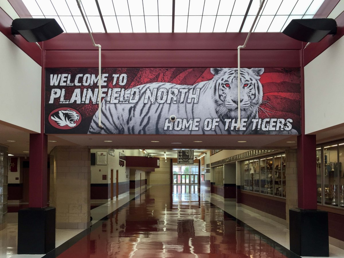 Plainfield North Hallway vinyl graphic