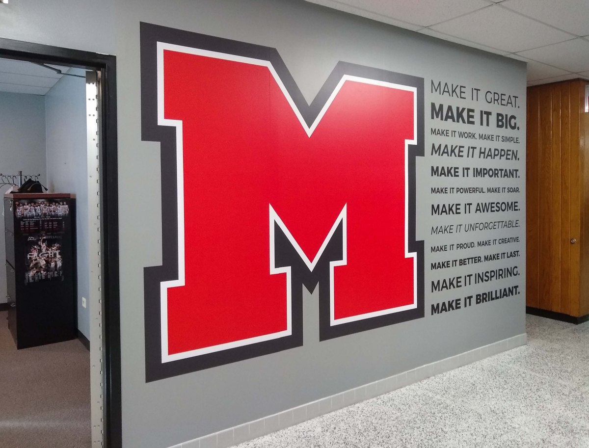 Mundelein High School wall Mural
