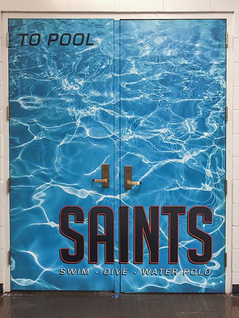 St. Charles East Pool Doors