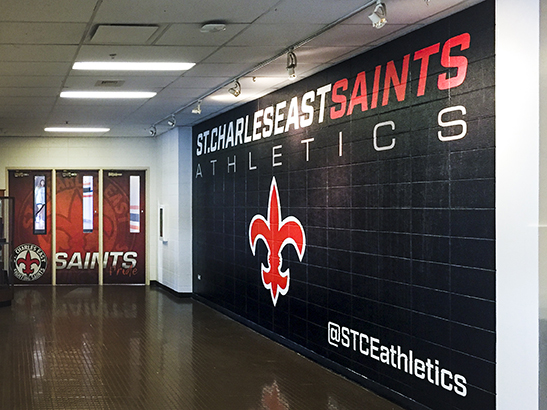 St. Charles East wall vinyl wall wrap