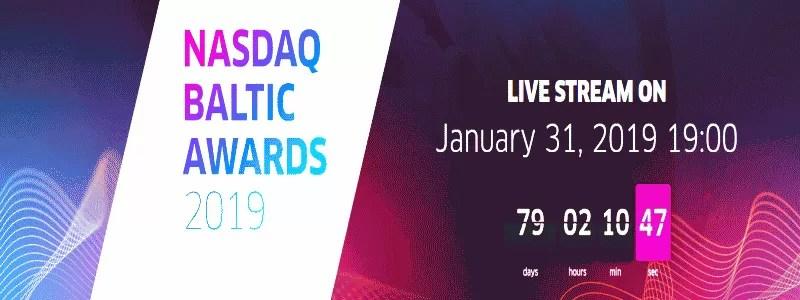 """""""Nasdaq Baltijos rinkos apdovanojimuose 2019"""" bus skelbiami svarbiausi pasiekimai vertybinių popierių rinkoje"""