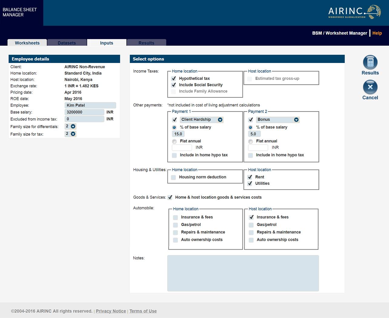 Air Balance Worksheet