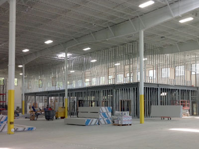 Metal Stud Wall Construction Steel Framing In Cleveland Oh