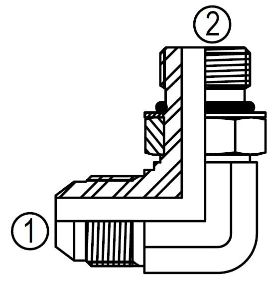 Fittings Degree Hydraulic Swivel 90