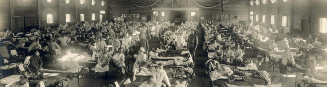Emergency hospital during influenza epidemic,