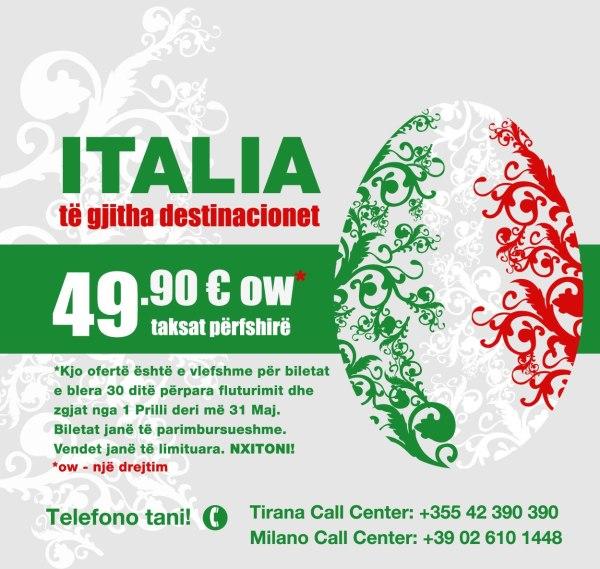 italia te gjitha destinacionet