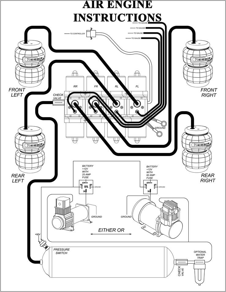air bag plumbing diagram