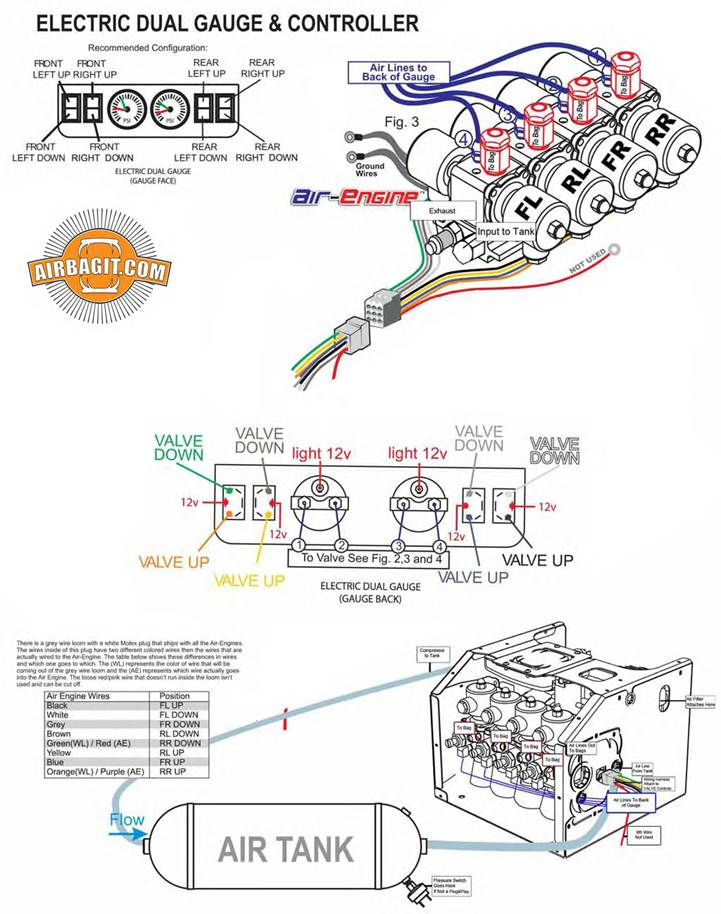 airbag suspension valve wiring diagram 2008 cobalt stereo compressor installation instructions~ airbagit.com