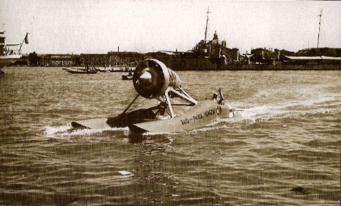 Airboat T108 from the RAID PAVIA VENEZIA in the 1930's