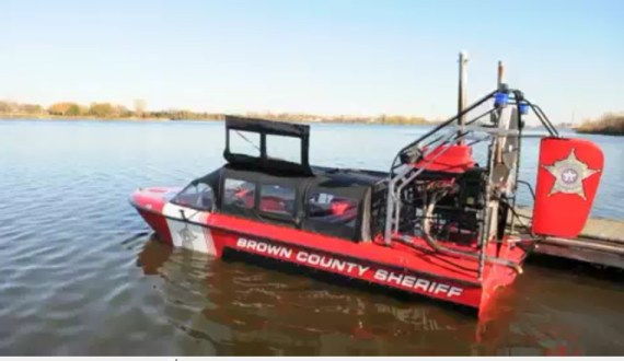 Brown County ice rescue airboat