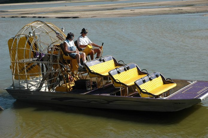 Tim Bryson's airboat - 9 seats (3 x 3) with twin rear operator, integrated communications system, counter rotator propellers