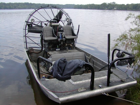 A somewhat simpler setup on Lake Allegan, Michigan