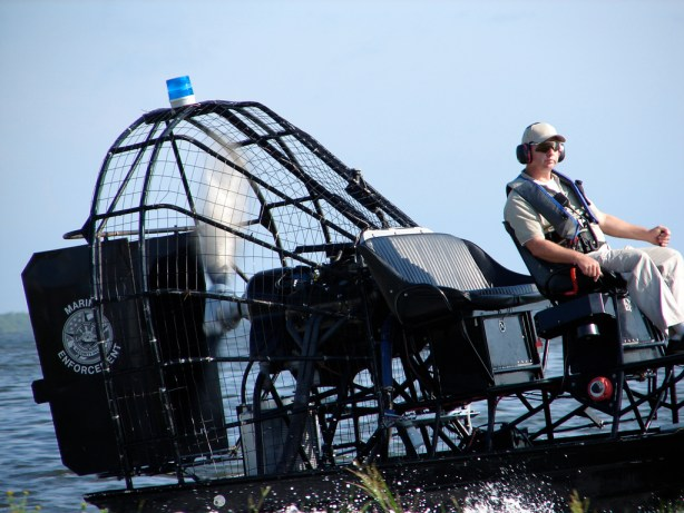 Cape Canaveral, Florida - Close-up of a Marine Enforcement airboat