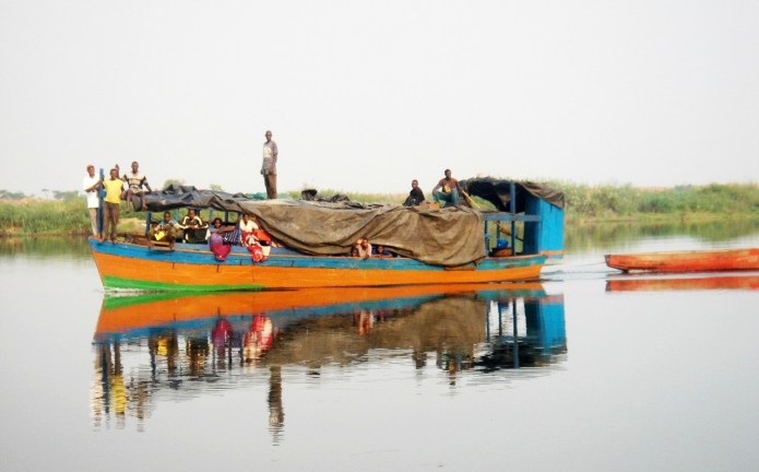 Lake Mweru - Boat on the Luapula River