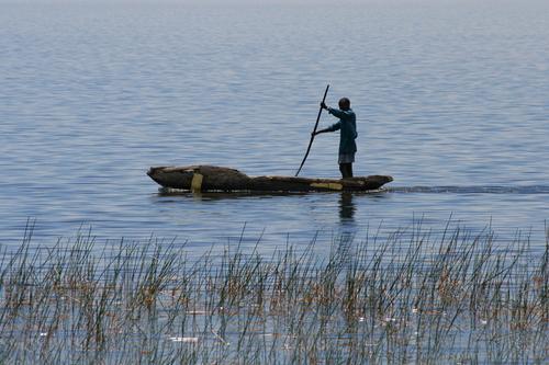 Fisherman in a Mokoro