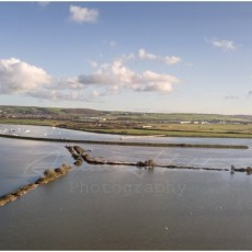 Flooding swamps Horsey Island at Braunton as defences destroyed