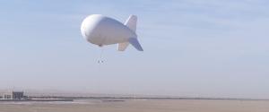 tactical aerostat at altitude