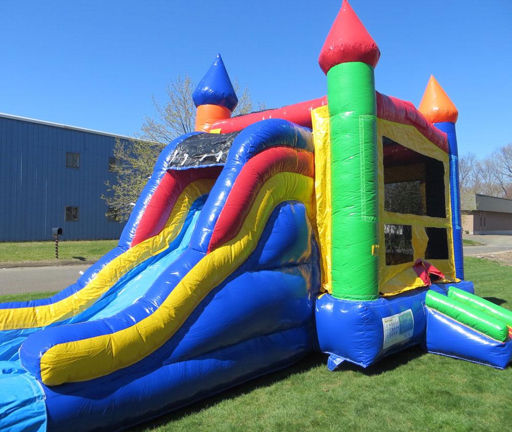 Rainbow Castle Slide Combo  Airbounce Amusements