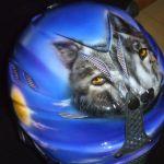 Skihelm mit Wolf