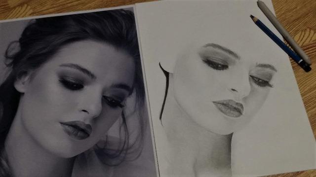 鉛筆画『女性2』