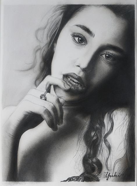 鉛筆画 女性