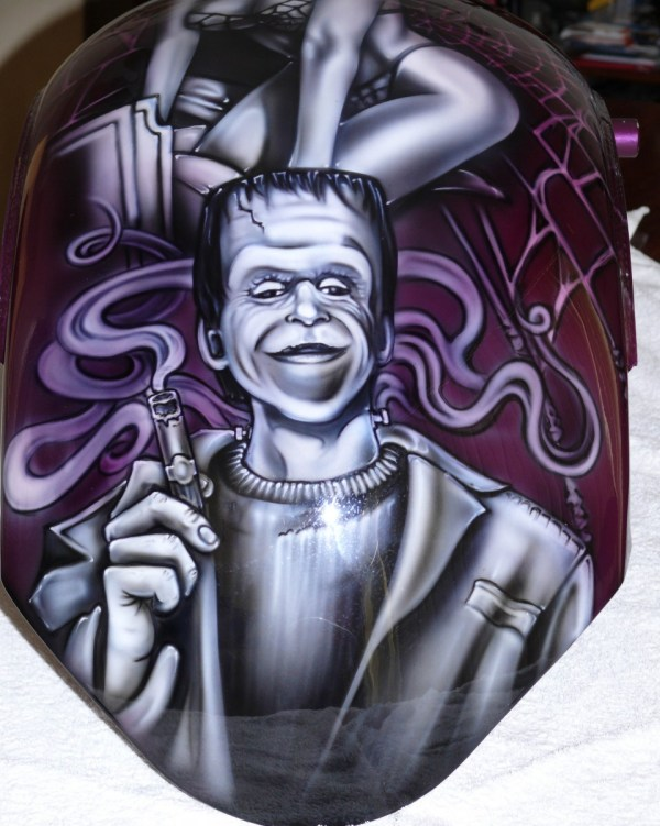 Munsters Chopper Airbrush Art Professional Air Brush