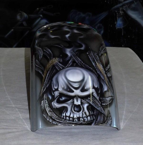 Cool Airbrush Art Skull