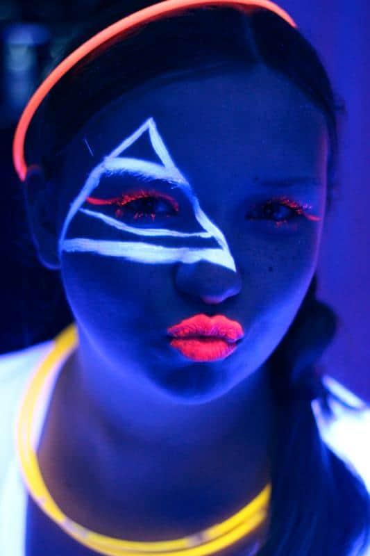 black light face paint  Airbrush Boston