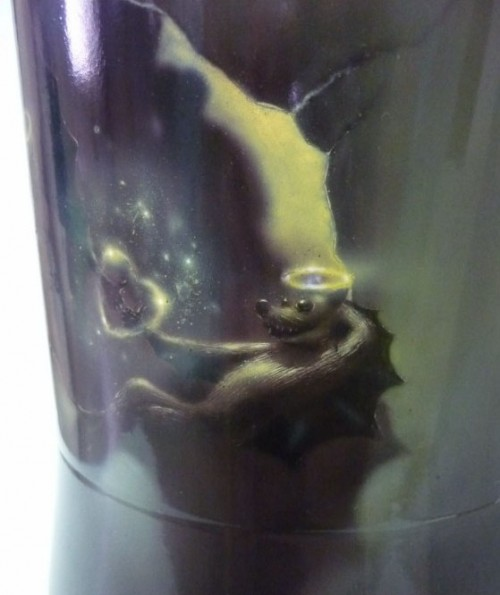 airbrush story of love 50 500x595 - The Story of Love - Airbrush on Electric Kettle