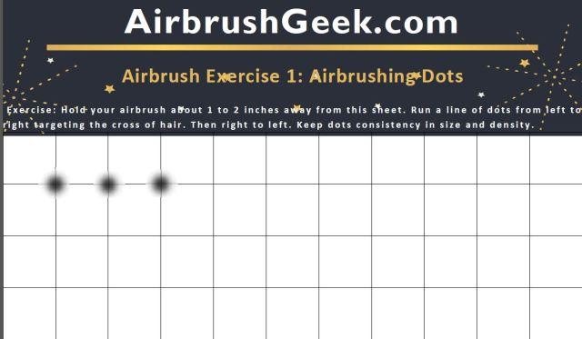 airbrushing dots