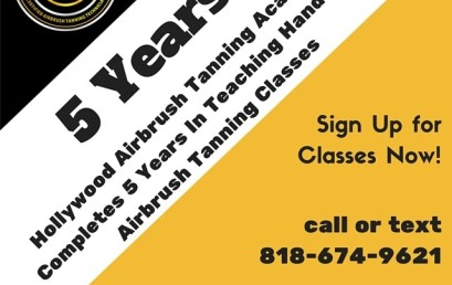 5 Years Teaching Airbrush Tanning Classes
