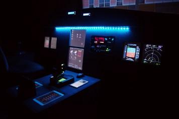 Cockpit während des Flugs (Stand Juni 2015)