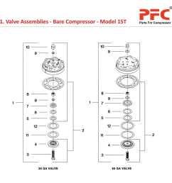 05 01 valve assemblies bare compressor model 15t jpg [ 1000 x 1000 Pixel ]
