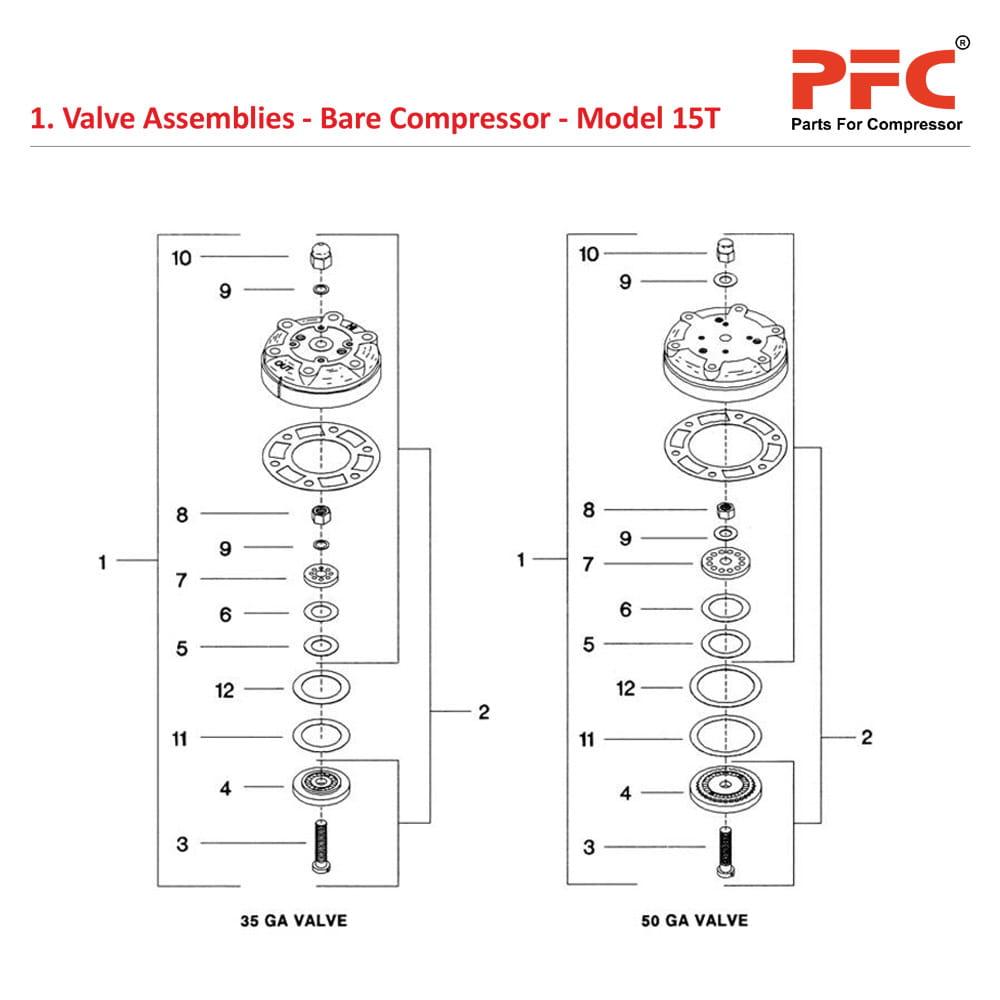 hight resolution of 05 01 valve assemblies bare compressor model 15t jpg