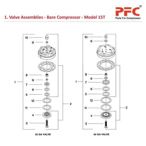 small resolution of 05 01 valve assemblies bare compressor model 15t jpg