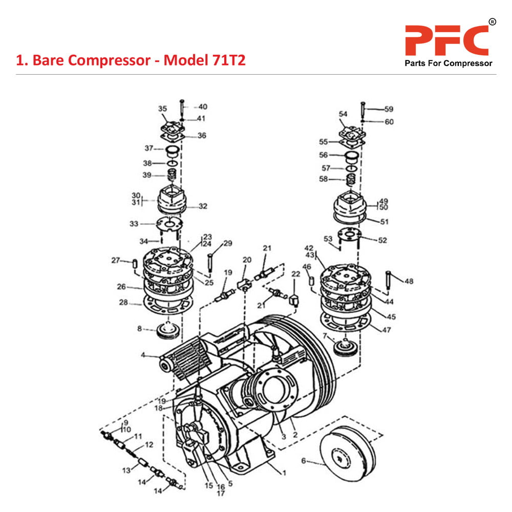 Valve Cylinder IR 71T2 Air Compressor Parts