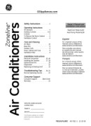 GE Air Conditioner Manual Downloads