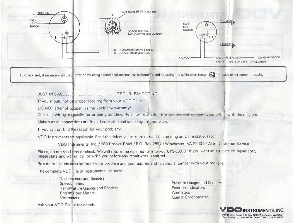 medium resolution of vdo extreme tach wiring diagram vdo discover your wiring diagram vdo extreme tachometer wiring diagram
