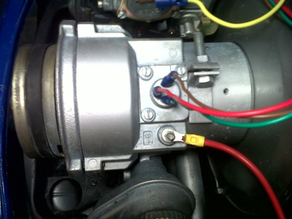 medium resolution of here is the picture of my alternator on my 68 bug i got some wiring diagrams it seems that the alternator warning light connects on to voltage regulator