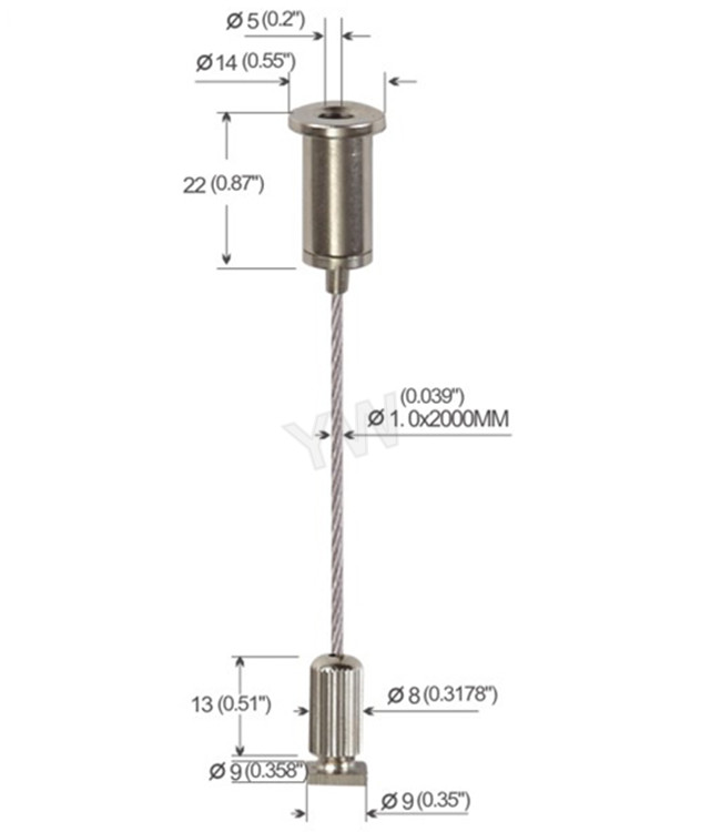 2000 Mm Height Adjustable Wire Suspension Kit For Hanging
