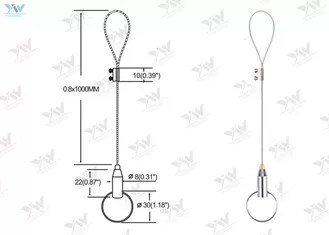 Self Locking Adjustable Cable Hangers / Wire Hanging
