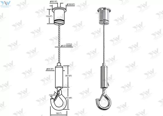 0.05 ″Stainless Steel Light Fitting Suspension Kits With