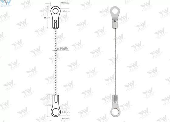 Eyelet Wire Suspension Hanging Kit 0.8 Mm Diameter Steel