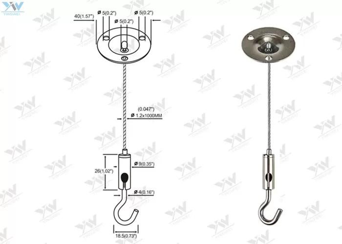 Flexible LED Panel Light Suspension Kit / Light Hanging