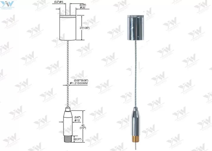 Chrome Plating Adjustable Aircraft Cable Hanging Kit