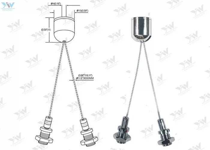 Y Shaped Stainless Wire Aircraft Cable Adjustable Fittings