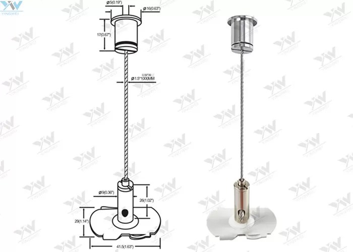 1 / 16 ″Stainless Steel Cable Suspension Kits / Cable
