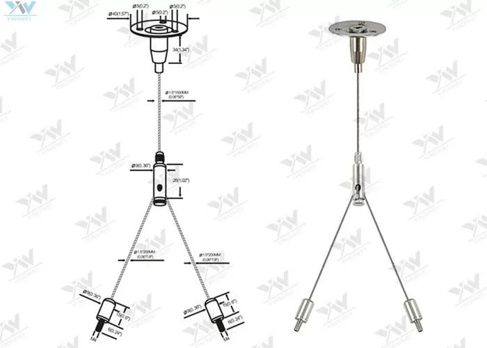 Cross Cable Aquarium Light Hanging Kit / Wire Suspension